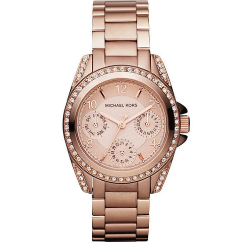Michael Kors Ladies' Mini Blair Chronograph Watch MK5613 - JB Watches