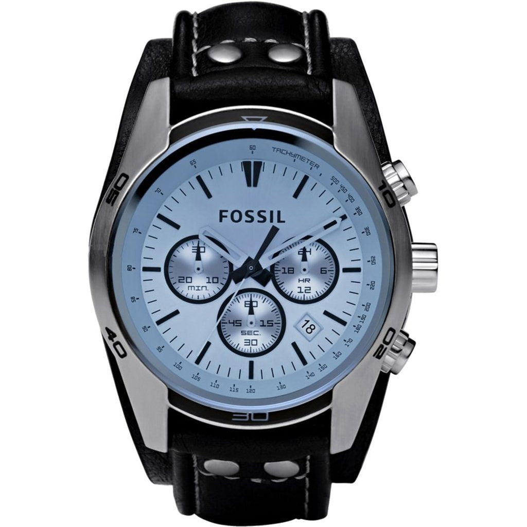 Fossil Men's Coachman Chronograph Cuff Watch CH2564 - JB Watches
