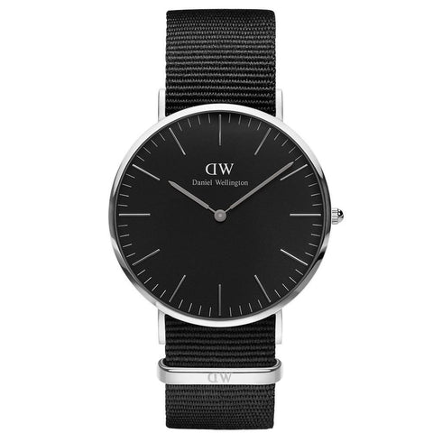 Daniel Wellington Men's Classic Black Cornwall 40mm Watch DW00100149 - JB Watches
