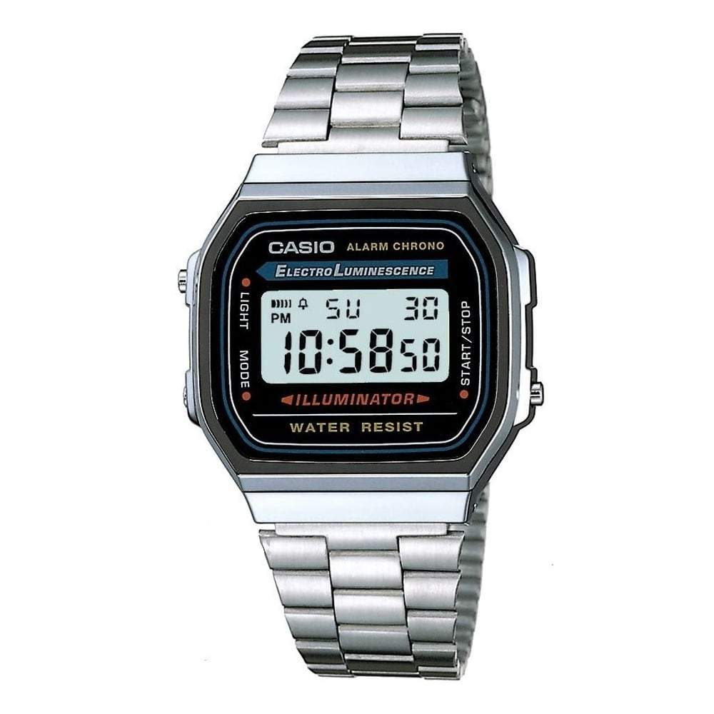 Casio Unisex Chronograph Watch A168WA-1YES - JB Watches