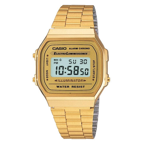 Casio Unisex Digital Watch A168WG-9EF - JB Watches