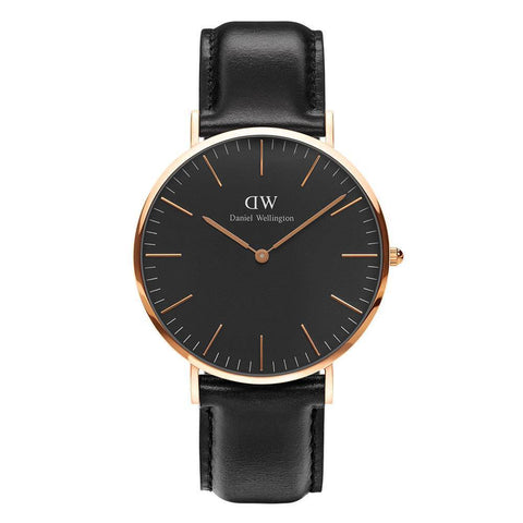 Daniel Wellington Men's Classic Black Sheffield 40mm Watch DW00100127 - JB Watches