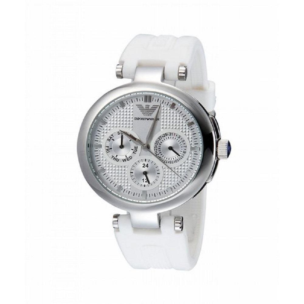 Emporio Armani Ladies' Chronograph Watch AR0736 - JB Watches