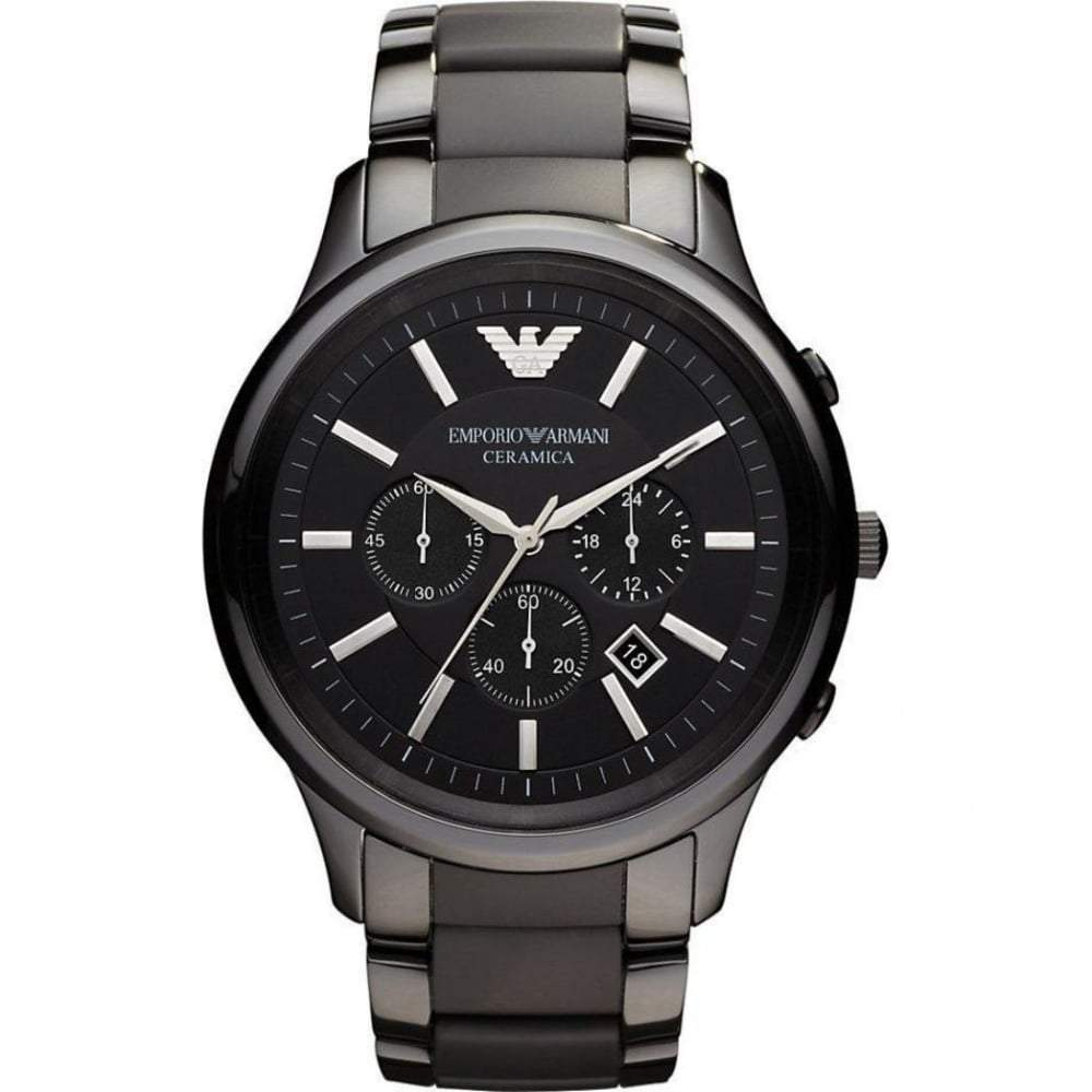 Emporio Armani Men's Ceramic Chronograph Watch AR1451 - JB Watches