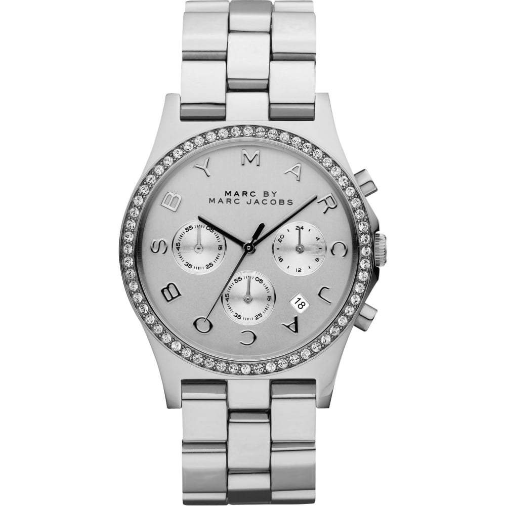 Marc by Marc Jacobs Ladies' Henry Glitz Chronograph Watch MBM3104 - JB Watches
