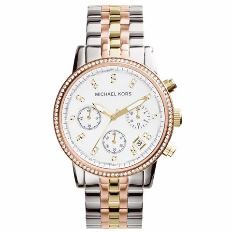 Michael Kors Ladies Ritz Chronograph Watch MK5650 - JB Watches