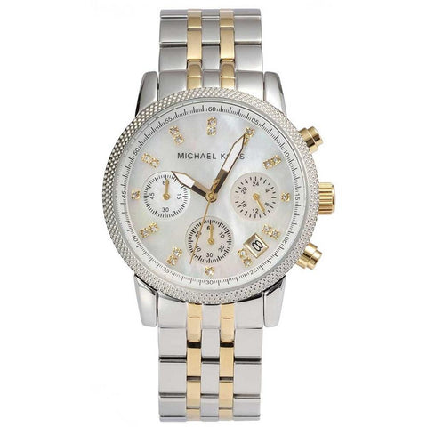 Michael Kors Ladies Ritz Chronograph Watch MK5057 - JB Watches