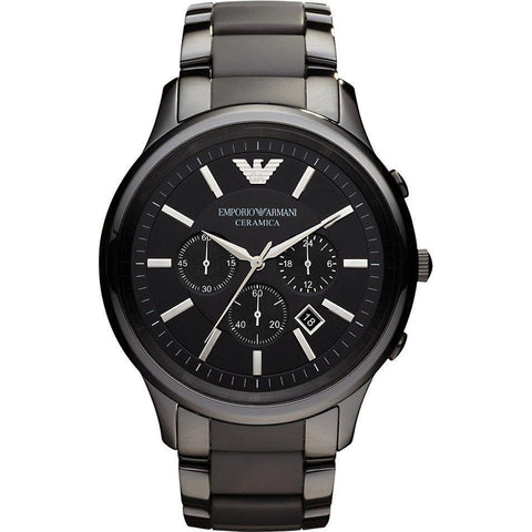 Emporio Armani Men's Ceramic Chronograph Watch AR1452 - JB Watches