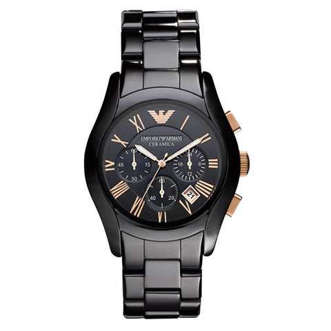 Emporio Armani Men's Ceramic Chronograph Watch AR1410 - JB Watches