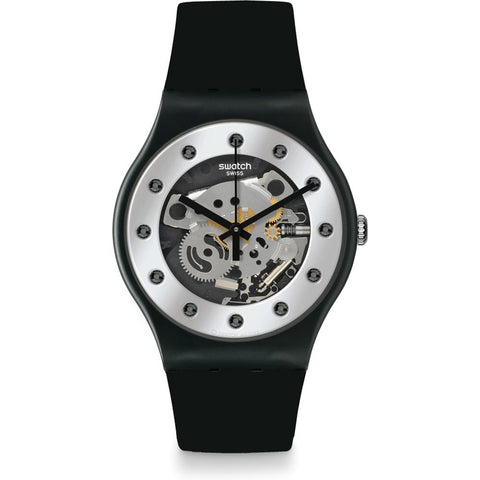Swatch Men's Silver Glam Watch SUOZ147