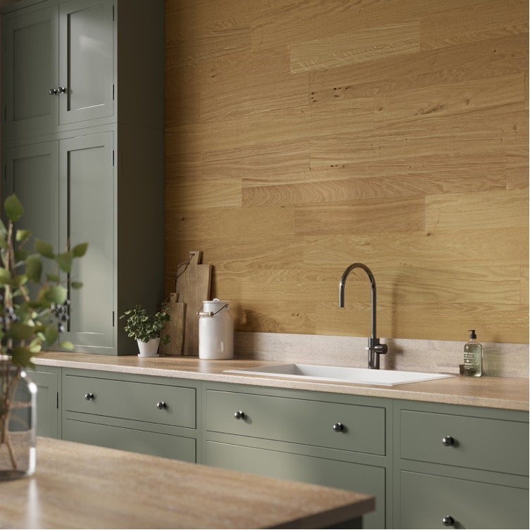 STIX EUROPEAN OAK WALL PANELLING FSC CERTIFIED Sold in 1 square meter packs