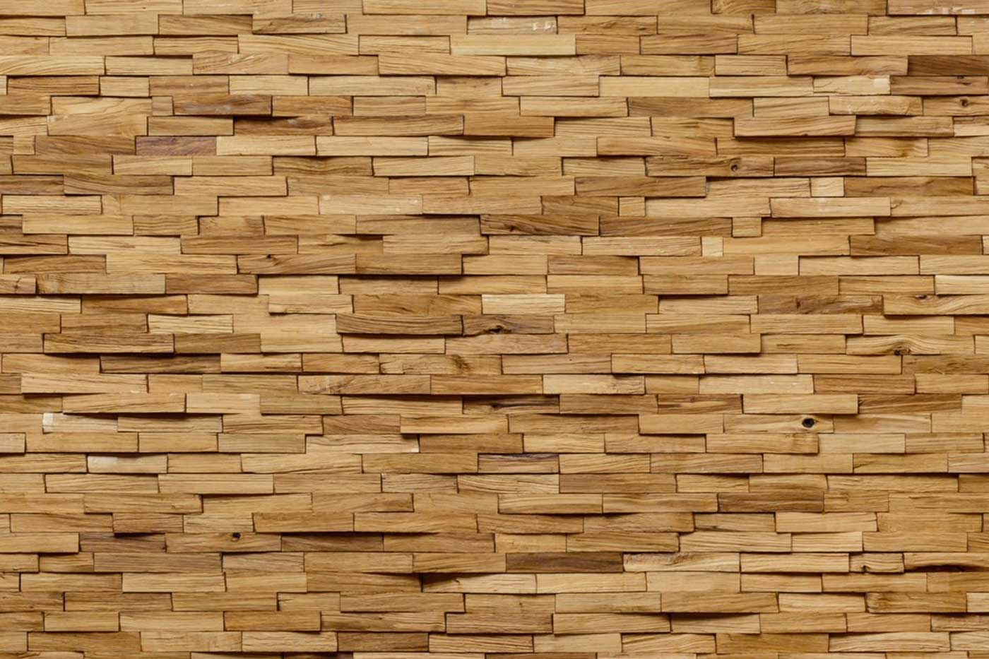 European Oak 3D Wall Panelling Plank Size 600mm Long x 141mm Wide Sold Per Piece