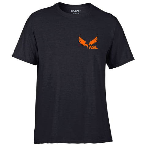 ASL Eagles Left Chest Short Sleeve Performace T Shirt