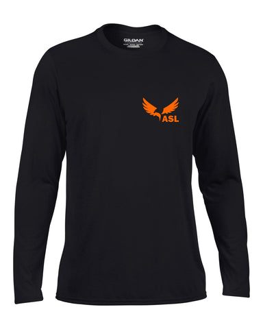 ASL Eagles Left Chest Long Sleeve Performace T Shirt