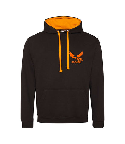 ASL Eagles Orange & Black Contrast Hoodie