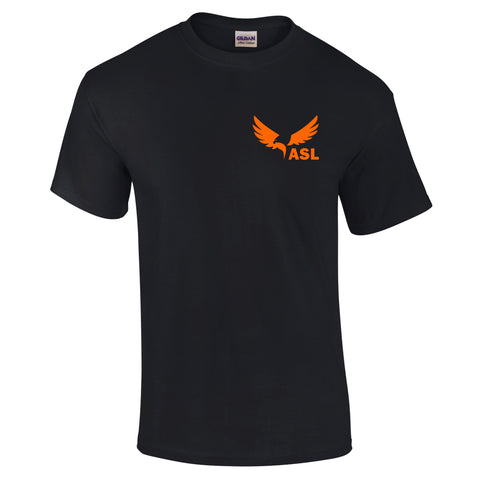 ASL Eagles Left Chest Short Sleeve Cotton T Shirt