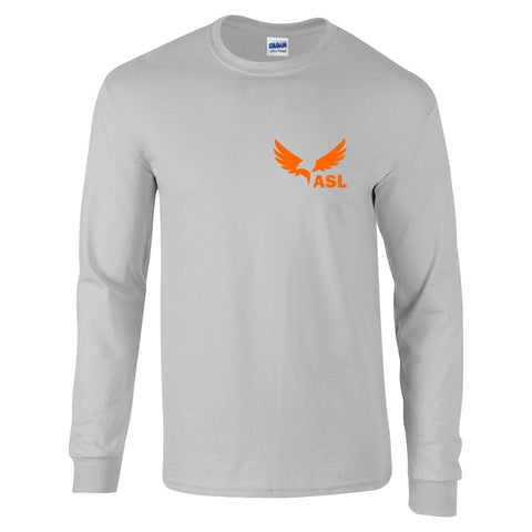 ASL Eagles Left Chest Long Sleeve Cotton T Shirt