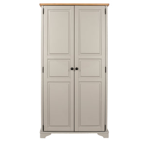 Balmoral - 2-Door Wardrobe - Grey/Oak