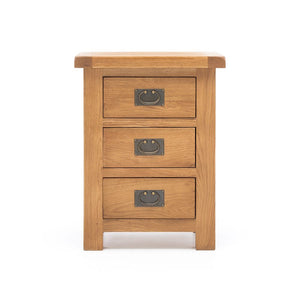 Salisbury Lite - 3-Drawer Nightstand - Solid Oak