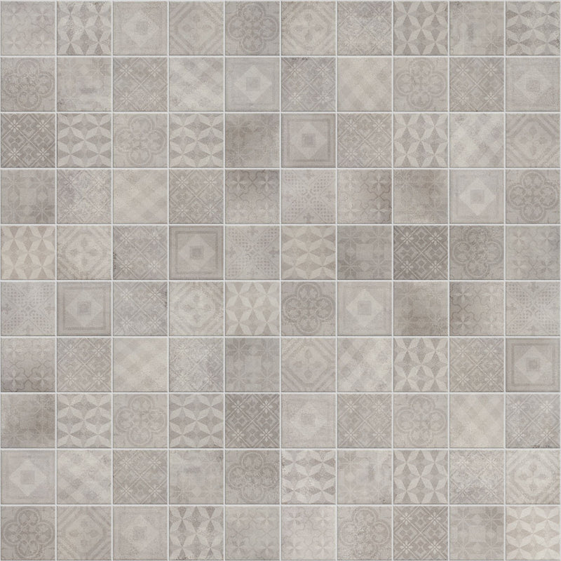 Betonsquare White-Grey Decor Mix 10x10cm lattialaatta
