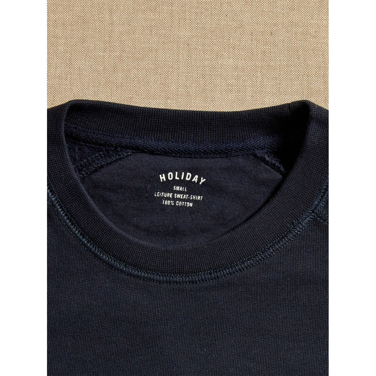 Navy blue leisure sweatshirt