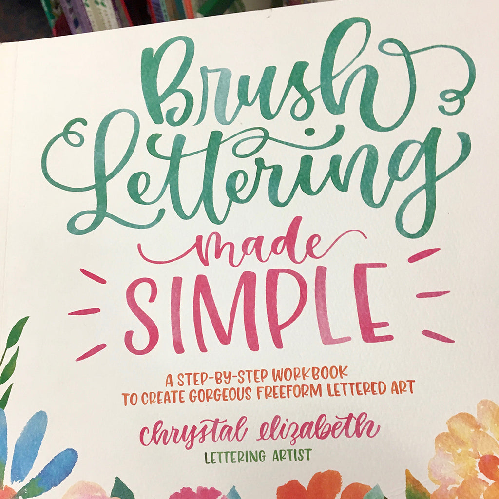Book Brush Lettering made simple