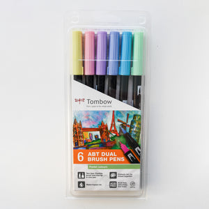 Tombow Dual Brush pen ABT - Pastel kleuren - set van 6