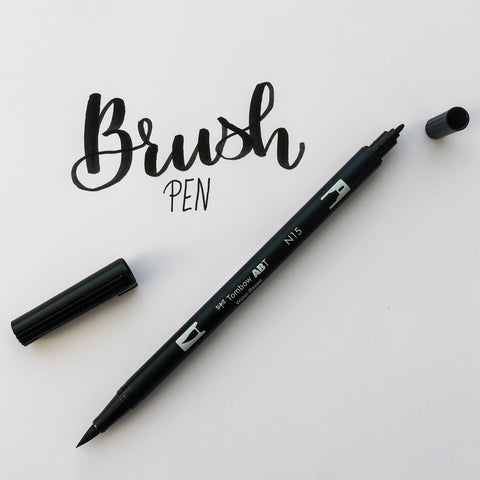 Tombow Dual Brush Pen ABT - Zwart (N15)