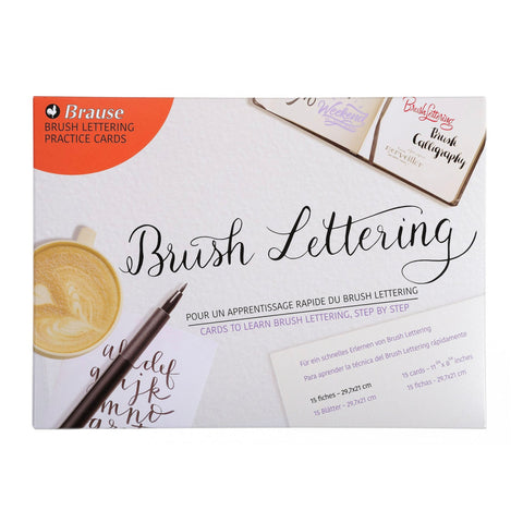 Brause Oefenkaarten Brush lettering