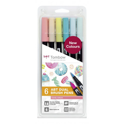 Tombow Dual Brush pen ABT - Candy kleuren - set van 6