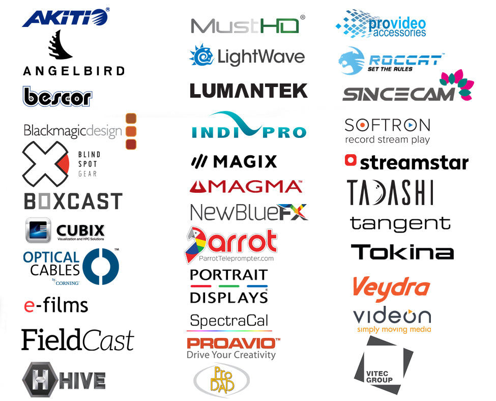 Three Rivers Video is an authorized reseller for these manufacturers and more!