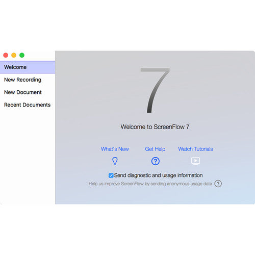 Telestream ScreenFlow 7 (Upgrade from v4 and Up, Download)