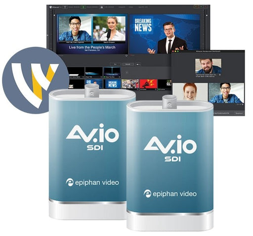 Epiphan AV.io SDI Multicamera Streaming Bundle with Wirecast Pro 8