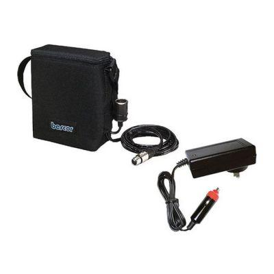 Bescor 12V 12A SLA Battery with 5' 4-Pin XLR & Auto Charger