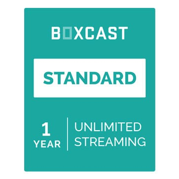 BoxCast Standard (1-Year Live Streaming Subscription)
