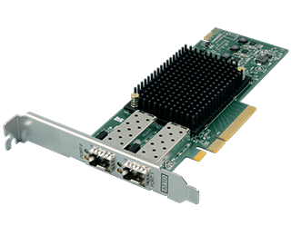 Dual Channel 32Gb Gen 6 FC to x8 PCIe 3.0 Host Bus Adapter, Low Profil