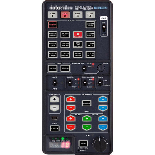 Datavideo MCU-100J Handheld Multi-Camera Controller for JVC Camcorders