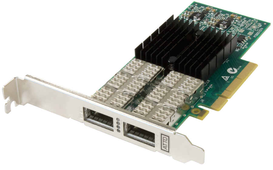 Dual Channel 40GbE to x8 PCIe 3.0 Ethernet Adapter, Low Profile, 30m Q