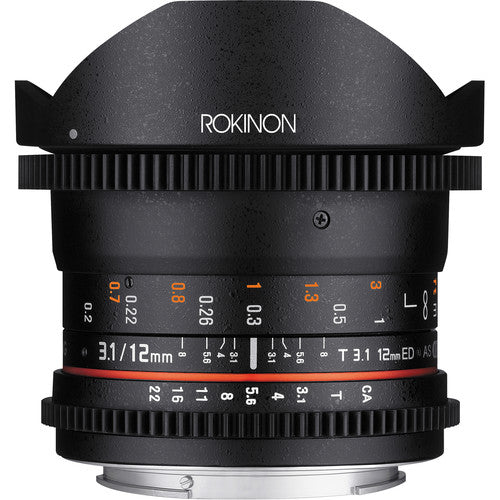 Rokinon 12mm T3.1 Full Frame Cine DS Fisheye Lens for Nikon