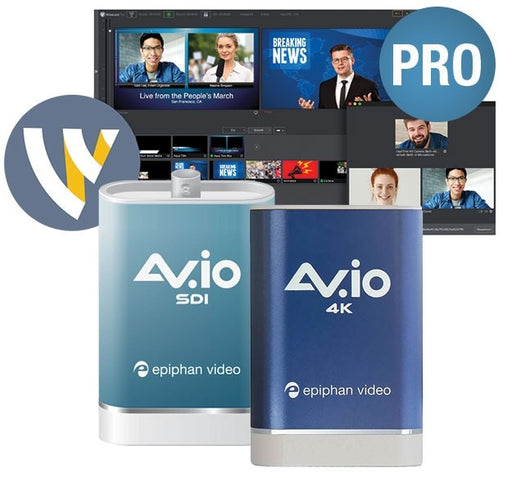 Epiphan AV.io Multicamera Streaming Bundles with Telestream Wirecast Pro