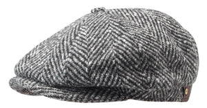 Hatteras Cap in Wool Herringbone Pattern - Stetson