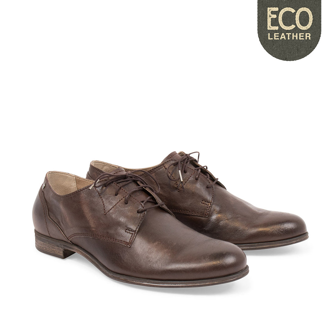 Dirty Low Leather Shoe Brown - Sneaky Steve