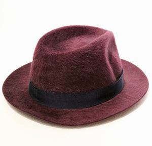 Borsalino Fur Felt Bordeaux Furry