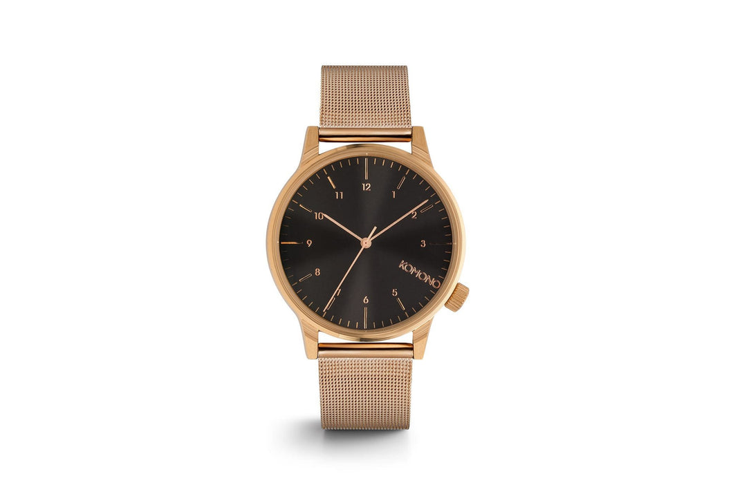 KOMONO watch - Winston Rosegold/Black