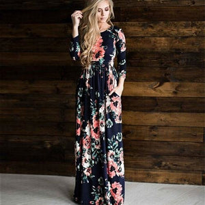 24456044d3a5 Annabelle - Boho Summer Dress - Darkblue   L (12 US UK)