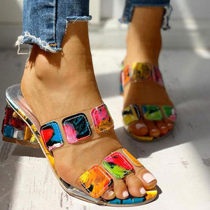 Aphrodite - Multicolored Chunky Sandals - UK: 2.5 / US: 5 / EU: 35