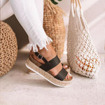Emily - Elegant Summer Espandrilles - UK: 2.5 / US: 5 / EU: 35 / Black