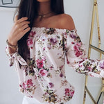 Francesca - Off Shoulder Blouse - Pink / S - Blouses & Shirts