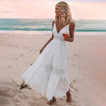 Gwen - Dreamy Summer Dress - White / S (4-6 US) (8 UK) - Dresses