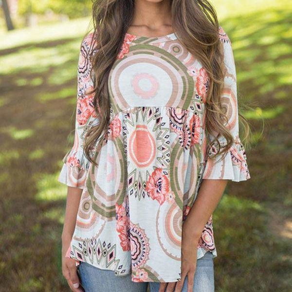 Lina - Hippie Style Blouse - L (12 US/UK)